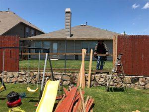 Fence Repair before