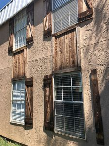 Shutter repair - before