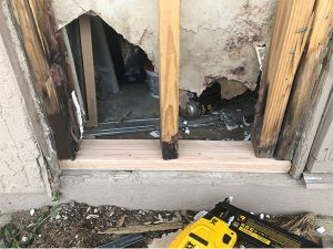 Termite damage after